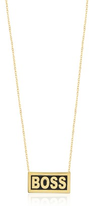 GABIRIELLE JEWELRY 14K Yellow Gold Vermeil Enamel 'Boss' Pendant Necklace