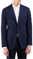Jigsaw Bloomsbury Italian Cotton Linen Suit Jacket, Indigo
