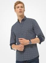 Michael Kors Slim-fit Floral Stretch-Cotton Shirt
