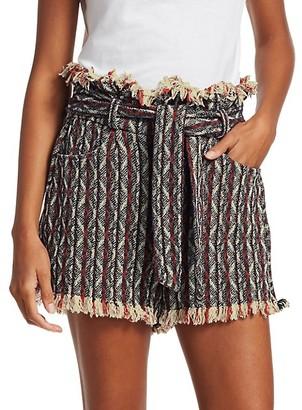 IRO Vanity Striped Tweed Shorts