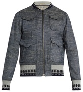 Bottega Veneta Contrast-trim Chambray Jacket