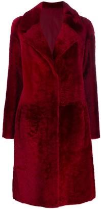 Drome single-breasted shearling jacket