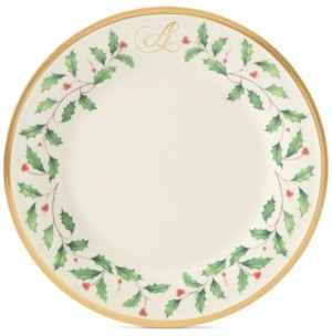 Lenox Holiday Personalized Salad Plate