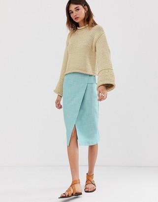 Asos tab detail wrap skirt