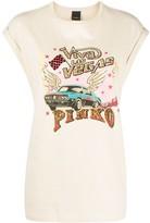 Pinko cap sleeve embellished T-shirt