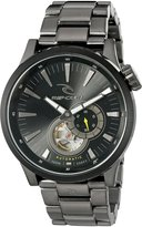 Rip Curl Men's 'Recon Auto Gunmetal SSS' Quartz Stainless Steel Sport Watch, Color:Grey (Model: A2894-DSH)