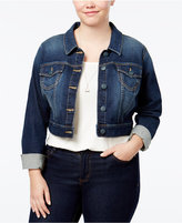 SLINK Jeans Trendy Plus Size Embroidered Denim Jacket