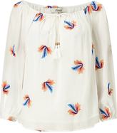 Somerset by Alice Temperley Embroidered Leaf Top, White