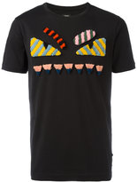 Fendi Bags Bug motif T-shirt - men - Cotton/Lamb Fur - 52