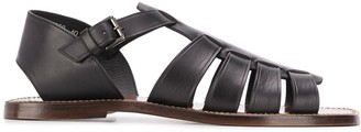 Silvano Sassetti Strappy Side Buckle Sandals