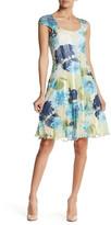 Komarov Floral Cap Sleeve Dress