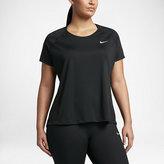 Nike Miler Women's Short Sleeve Running Top (Plus Size)
