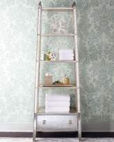 John-Richard Collection SILVER MIRRORED ETAGERE