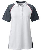 Classic Women's Plus Colorblock Active Polo Shirt-White