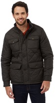 Maine New England Big And Tall Dark Brown Pocket Quilted Jacket