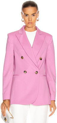 Oscar de la Renta Double Breasted Blazer in Begonia | FWRD