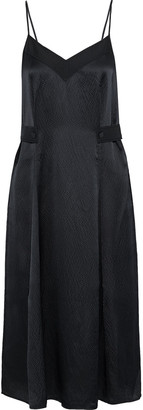 Rag & Bone Hugo Pleated Hammered Silk-satin Midi Slip Dress