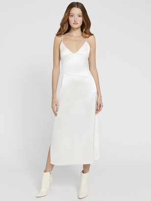 Alice + Olivia Kayla Seamed Slip Midi Dress
