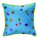 Bacati Valley of Flowers Dec Pillow 12x12-Inch