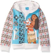 Disney Little Girls' Toddler Moana Hoodie with Printed Sleeve