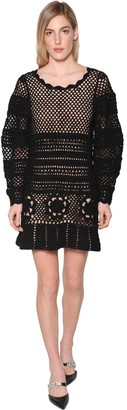 Self-Portrait Self Portrait Floral Techno Crochet Dress