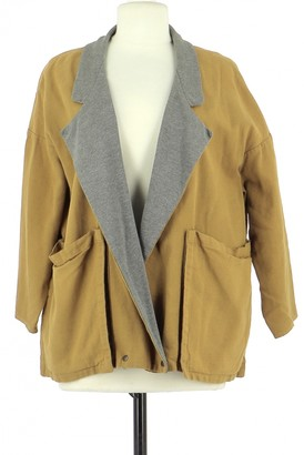 Les Prairies de Paris Orange Cotton Jacket for Women