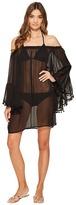 Bleu Rod Beattie Gypset Off the Shoulder Peasant Sleeve Dress Cover-Up
