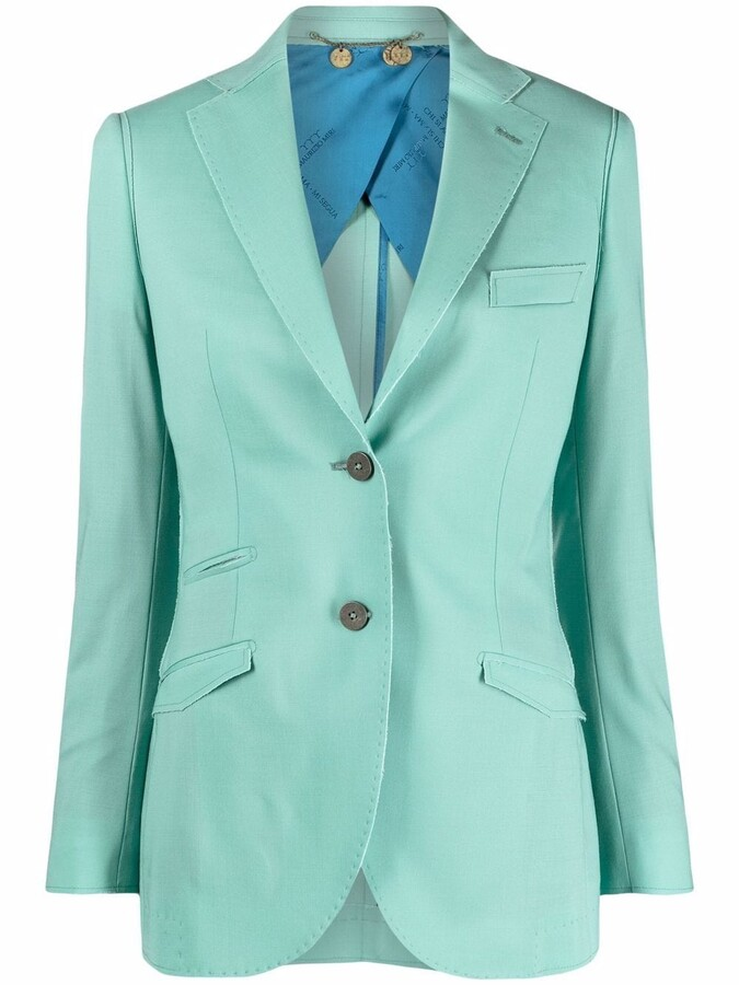 Thumbnail for your product : Maurizio Miri Single-Breasted Stretch-Wool Blazer