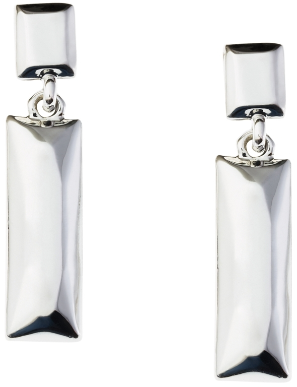 Brooks Brothers Rectangle Double Drop Earrings