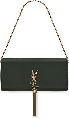 Saint Laurent Kate Supple 99 Monogram Shoulder Bag w/ Tassel