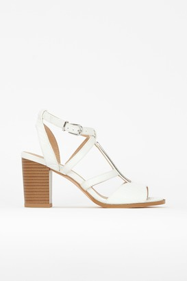 Wallis White T-Bar Multi Strap Sandal