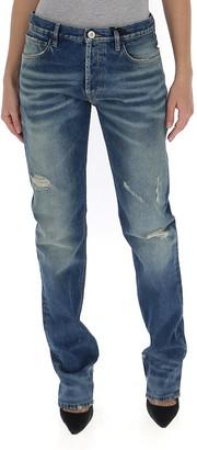ATTICO Distressed Straight Leg Jeans