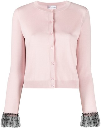 RED Valentino Flare-Sleeve Buttoned Cardigan