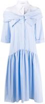 VIVETTA bow detail two-tone shirt dress