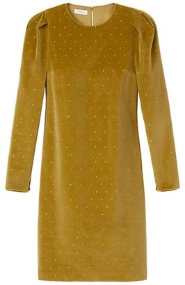 Lafayette 148 New York Gia Studded Velvet Shift Dress
