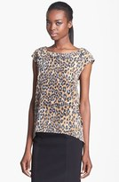 Tracy Reese Print Silk Blouse