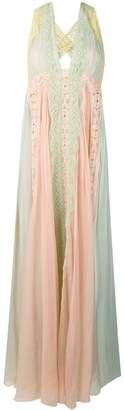 Alberta Ferretti halter neck long dress
