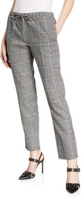 Leo & Sage Leo + Sage Mid-Rise Straight-Leg Plaid Pants