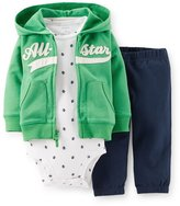 Carter's Baby Boys 3-piece Hooded Cardigan Set (Nb-24 Months) (All Star)