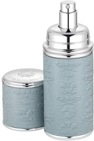 Creed Grey with Silver Trim Leather Atomizer