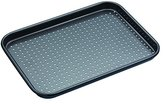 "Kitchen Craft Master Class - Crusty Bake"" Baking Tray, Grey, 24 x 18 cm"