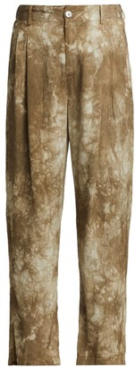 Raquel Allegra Tie-Dye Pleated Pants