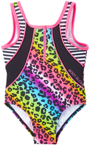 Body Glove Rainbow Leopard One-Piece - Tween