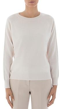 Peserico Metallic Trimmed Virgin Wool Silk & Cashmere Sweater
