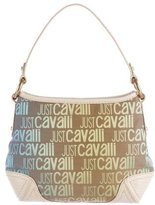 Just Cavalli Embossed-Trimmed Jacquard Hobo