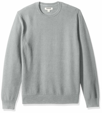 Goodthreads Amazon Brand Men's Soft Cotton Thermal Stitch Crewneck Sweater