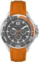 Nautica Men's A17614G NST 02 Multifunction Dial Orange Silicone Strap Watch