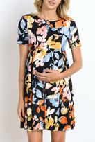 The Swanky Stork Black Floral Dress