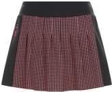 Fendi Pleated Polka Dot Mini Skirt
