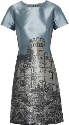 Alberta Ferretti Satin-jacquard Mini Dress